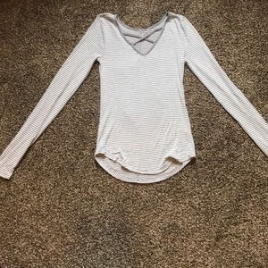 Tops - great and white striped long sleeve